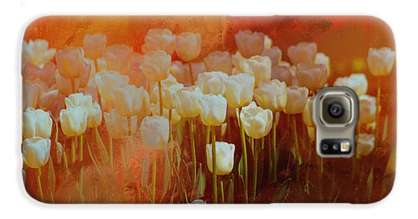 White Tulips Galaxy S6 Case