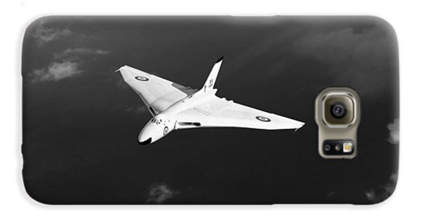 Galaxy S6 Case featuring the digital art White Vulcan B1 At Altitude Black And White Version by Gary Eason