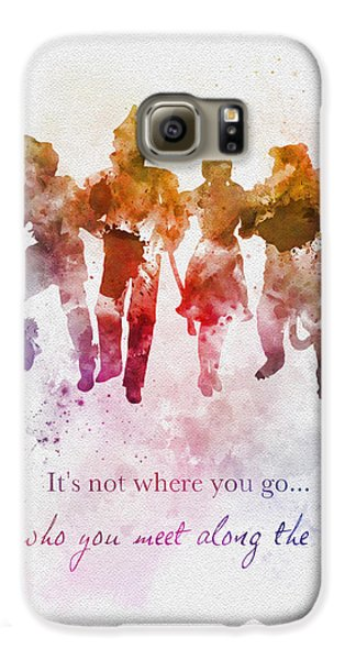 Wizard Galaxy S6 Case - Who You Meet Along The Way by Rebecca Jenkins