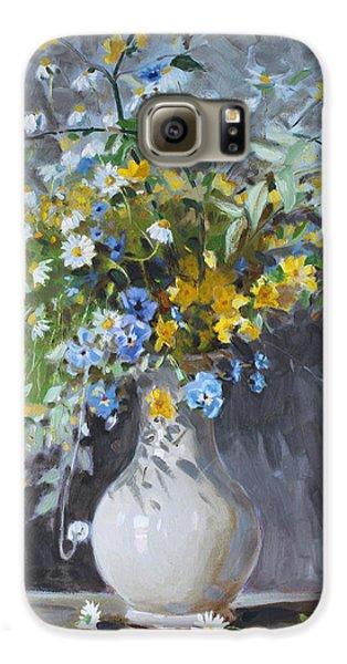 Daisy Galaxy S6 Case - Wild Flowers by Ylli Haruni
