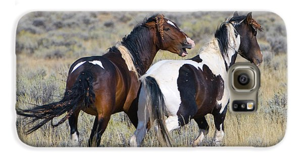 Wild Mustangs Playing Galaxy S6 Case