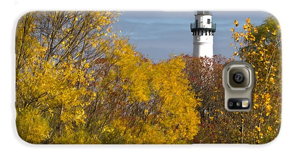Wind Point Lighthouse In Fall Galaxy S6 Case by Ricky L Jones