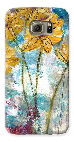 Sunflower Galaxy S6 Case - Wild Sunflowers- Art By Linda Woods by Linda Woods