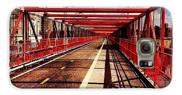 City Galaxy S6 Case - Williamsburg Bridge - New York City by Vivienne Gucwa