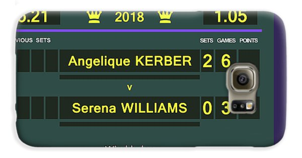 Venus Williams Galaxy S6 Case - Wimbledon Scoreboard - Customizable - 2017 Muguruza by Carlos Vieira