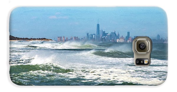 Windy View Of Nyc From Sandy Hook Nj Galaxy S6 Case