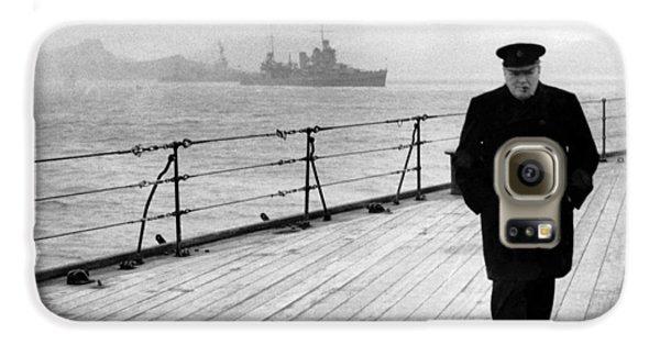 Boat Galaxy S6 Case - Winston Churchill At Sea by War Is Hell Store