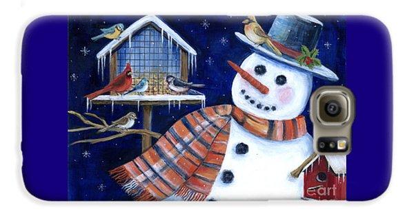 Winter Birds Delight Galaxy S6 Case