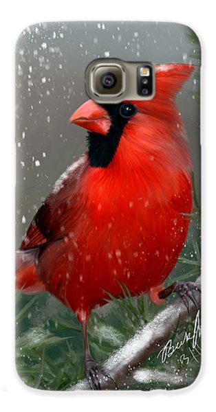 Winter Cardinal Galaxy S6 Case