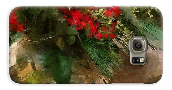 Winter Flowers In Glass Vase Galaxy S6 Case