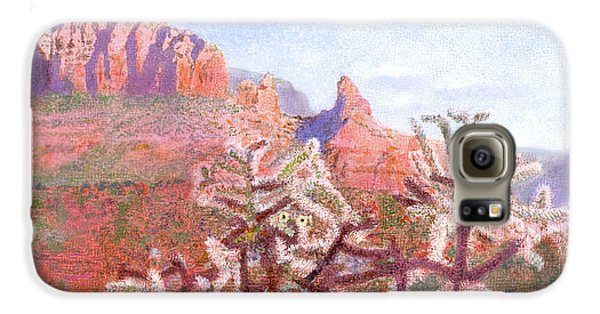 Galaxy S6 Case featuring the painting Winter In Sedona, Arizona by Nancy Lee Moran