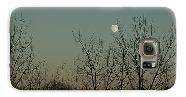 Galaxy S6 Case featuring the photograph Winter Moon by Ana V Ramirez