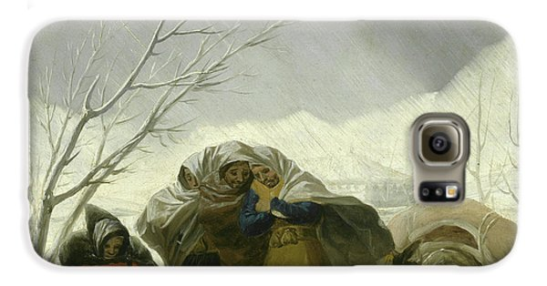 Winter Scene Galaxy S6 Case by Goya
