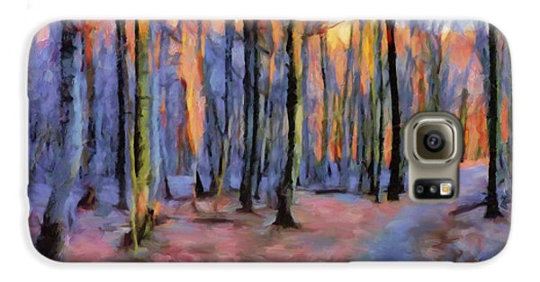 Winter Sunset In The Beech Wood Galaxy S6 Case