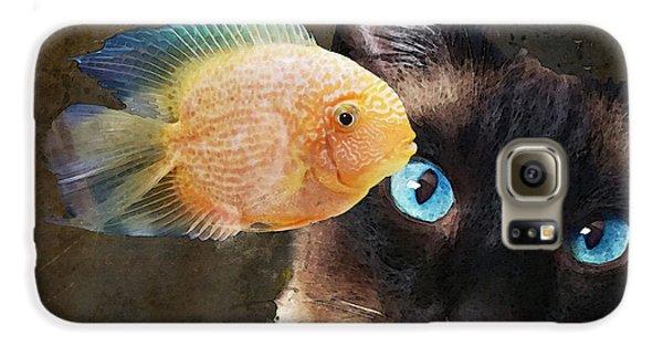 Goldfish Galaxy S6 Case - Wishful Thinking 2 - Siamese Cat Art - Sharon Cummings by Sharon Cummings