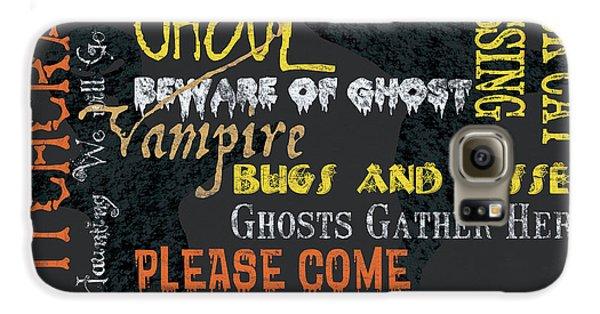 Bat Galaxy S6 Case - Witchcraft Typography by Debbie DeWitt
