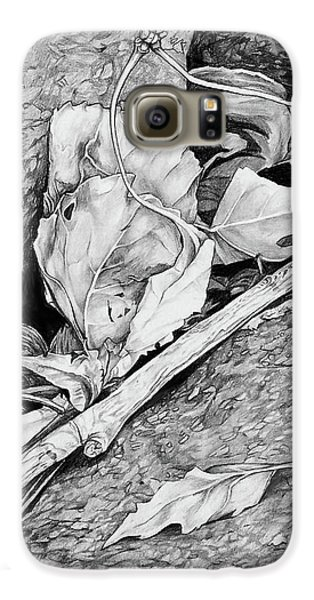 Galaxy S6 Case featuring the drawing Withered Leaves by Aaron Spong