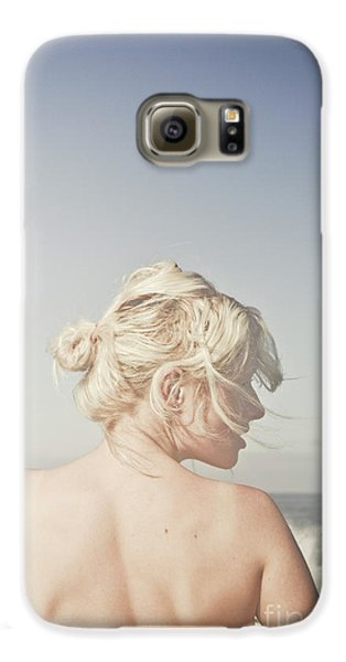 Galaxy S6 Case featuring the photograph Woman Relaxing On The Beach by Jorgo Photography - Wall Art Gallery