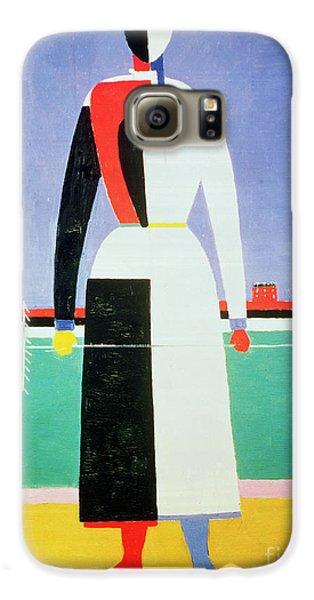 Woman With A Rake Galaxy S6 Case by Kazimir Severinovich Malevich