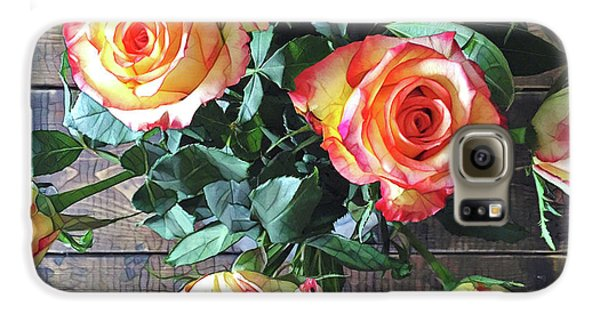 Wood And Roses Galaxy S6 Case
