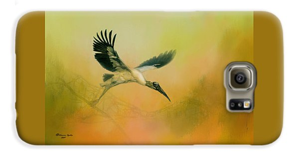 Stork Galaxy S6 Case - Wood Stork Encounter by Marvin Spates