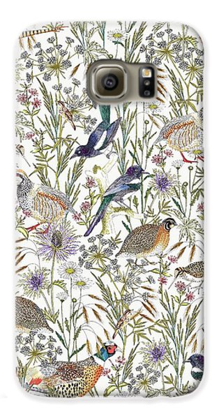 Woodland Edge Birds Galaxy S6 Case by Jacqueline Colley