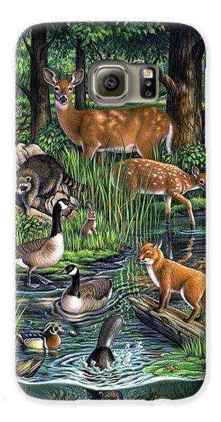Goose Galaxy S6 Case - Woodland by Jerry LoFaro