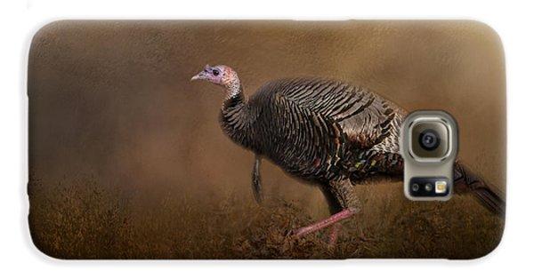 Woodland Walk - Wild Turkey Art Galaxy S6 Case by Jai Johnson