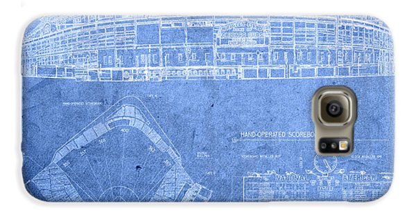 Wrigley Field Chicago Illinois Baseball Stadium Blueprints Galaxy S6 Case by Design Turnpike