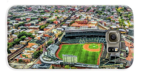 Wrigley Field Galaxy S6 Case - Wrigley Field Chicago Skyline by Christopher Arndt