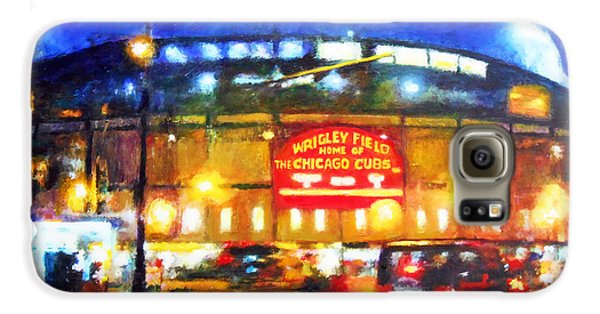 Wrigley Field Galaxy S6 Case - Wrigley Field Home Of Chicago Cubs by Michael Durst