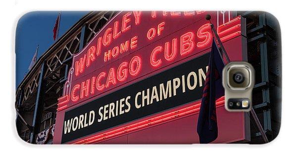 Wrigley Field World Series Marquee Galaxy S6 Case by Steve Gadomski