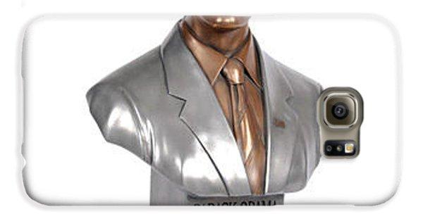Joe Biden Galaxy S6 Case - Obama Bronze Bust by Dothlyn Morris Sterling