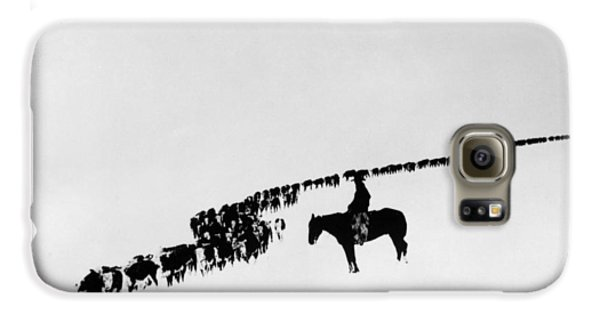 Horse Galaxy S6 Case - Wyoming: Cattle, C1920 by Granger