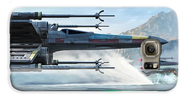 Space Ships Galaxy S6 Case - X-wing Full Throttle  by Kurt Miller