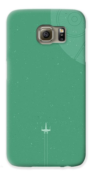X-wing Meets Death Star Galaxy S6 Case by Samuel Whitton