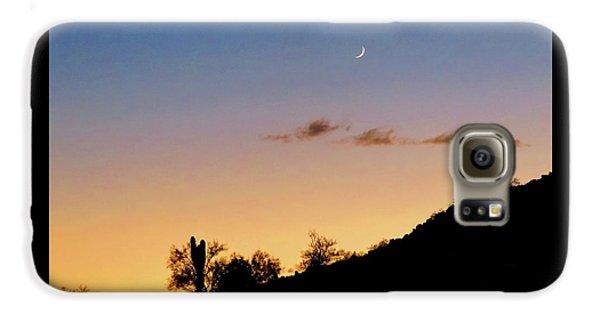 Y Cactus Sunset Moonrise Galaxy S6 Case