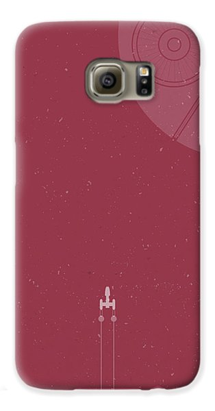 Space Ships Galaxy S6 Case - Y-wing Bomber Meets Death Star by Samuel Whitton