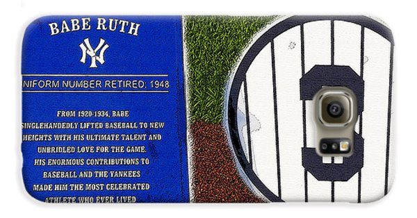 Yankee Legends Number 3 Galaxy S6 Case by David Lee Thompson