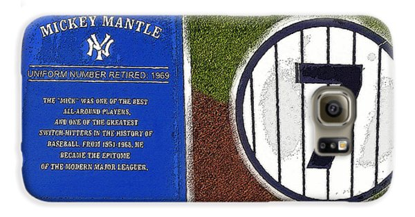 Yankee Legends Number 7 Galaxy S6 Case by David Lee Thompson