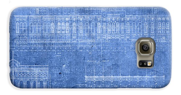 Yankee Stadium New York City Blueprints Galaxy S6 Case by Design Turnpike