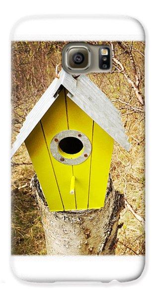 House Galaxy S6 Case - Yellow Bird House by Matthias Hauser