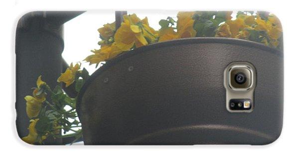 Decorative Galaxy S6 Case - Yellow Flowers Hanging by Anamarija Marinovic