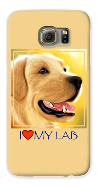 Yellow Lab Portrait Galaxy S6 Case