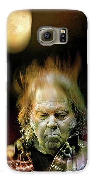 Yellow Moon On The Rise Galaxy S6 Case by Mal Bray