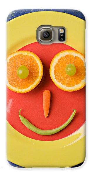 Yellow Plate With Food Face Galaxy S6 Case