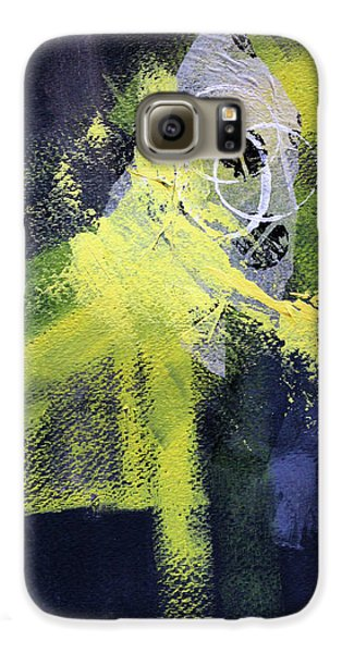 Galaxy S6 Case featuring the painting Yellow Splash by Nancy Merkle