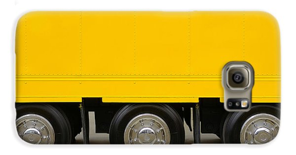 Yellow Truck Galaxy S6 Case by Carlos Caetano