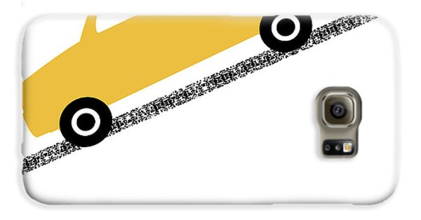 Truck Galaxy S6 Case - Yellow Truck On Road- Art By Linda Woods by Linda Woods