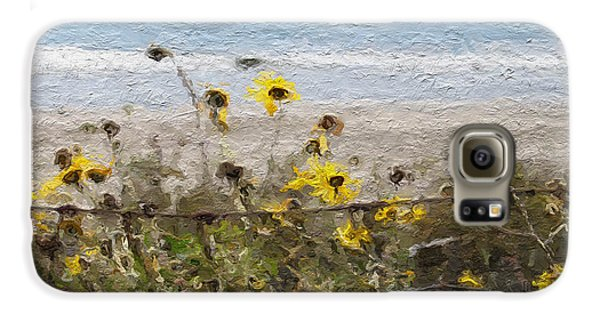 Daisy Galaxy S6 Case - Yellow Wildflowers- Art By Linda Woods by Linda Woods
